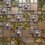Mattonelle della parete del mosaico del metallo dell'acciaio inossidabile, mosaico di vetro (SM211)