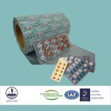 El papel de aluminio certificado ISO9001 de Ptp para el empaquetado farmacéutico marca en la tableta 8011 H18