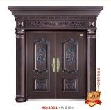 Porta do metal da porta do aço frio de porta de entrada (FD-1001)