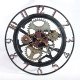 Disegni unici dell'orologio di parete del metallo con stile antico