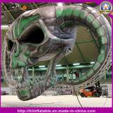 Crânio inflável ao ar livre/interno gigante para a decoração de Halloween