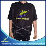 T-shirts faits sur commande de bowling de sublimation pour les équipes et les clubs sportifs de jeu de bowling