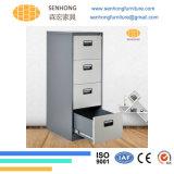 Шкаф для картотеки 4 ящиков вертикальный стальной для хранения документов