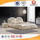 낭만주의 현대 직물 침실 가구 두 배 연약한 침대 (UL-FT803A)
