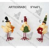 Décoration debout Gift-3asst de vacances d'oiseau de Noël