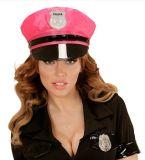 분홍색 위로 경찰을 캡핑한다 조정가능한 기장에 남자 순경 모자를 옷을 입으십시오