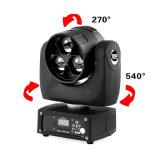 3X20W Rbgw bewegliches helles Minipartei DJ-Disco-Verein Sopt Washlight LED-Bildschirmanzeige-Hauptmenü mit umgewandelten hoch entwickelten Betriebsarten