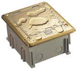 Aluminiumdoppelte knallen oben Typen IP44 wasserdichten Fußboden-Anschluss-Kasten mit Kontaktbuchsen der Universalitäts-10A