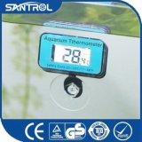 SD-1魚飼育用の水槽のアクアリウムの青い吸盤のデジタル温度の温度計
