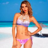 2017 signore sexy Crochet lo Swimwear stampato a due pezzi del bikini
