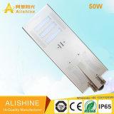 luz de calle solar de la batería incorporada del Litio-Ion LiFePO4 de 50W LED