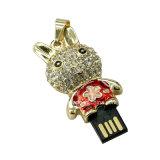 Mini movimentação do flash do USB dos desenhos animados do USB Pendrive do metal