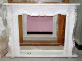 De het witte Marmer van het Beeldhouwwerk van de Steen/Open haard van de Steen van het Graniet