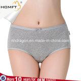 도매 여자 태양열 집열기 면은 MID- 허리 Bowknot Panty Underwear 고전적인 팬티 숙녀를 요약한다