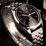 H331-S 사업가 강철 시계 형식 고품질 남자 손목 시계 수정같은 가늠자