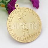 Médaille commémorative de pièce de monnaie d'or gravée par coutume en métal de sport du champion 3D d'usine