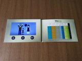 Carte vidéo de papier d'affichage à cristaux liquides de Cmyk d'invitation colorée d'impression pour la publicité de médecine de santé
