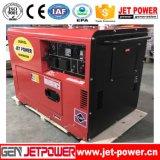 6kw 6kVAの無声ホーム使用の携帯用空気によって冷却されるディーゼル発電機