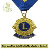 медаль 3D с кристаллами (камнями) & цепью