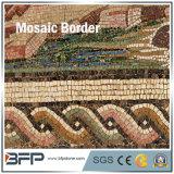 Telha de mármore Waterjet Polished da beira do mosaico para o revestimento