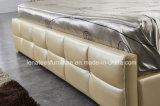 Moderne Entwurfs-Leder-Möbel des Schlafzimmer-S248