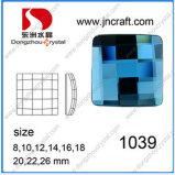 Roud와 Square Flat Back Glass Mirror Beads Stones