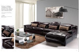 Sofa réglé L forme de loisirs de meubles de sofa sectionnel à la maison de cuir