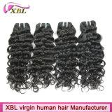 Extensões cambojanas do cabelo de Brown escuro da cor natural