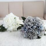 Fleur artificielle de vente chaude de bouquets de pivoine utilisée pour la décoration (SW11221)