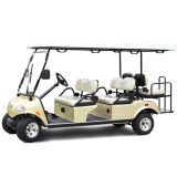 ハイブリッドが付いているゴルフカート4+2seatのハイエンドシート