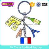 Anello portachiavi su ordinazione #B301 di Keychain del metallo della bandierina di paese del regalo del ricordo di promozione