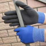 Luva revestida de nylon do trabalho de 15 luvas do látex de espuma das luvas do calibre