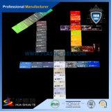 Transparentes buntes Blatt des Acryl-PMMA für das im Freienbekanntmachen