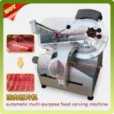 Modelo da tabela congelado/cortador refrigerado do Slicer da carne da carne da carne de carneiro que corta a máquina de estaca