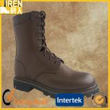 新しいデザイン一等級の本物牛革安全靴の軍の戦闘用ブーツ
