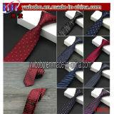 Lazo de la corbata de los lazos de los hombres Wedding el regalo de seda flaco tejido telar jacquar clásico de la Navidad (T8032)