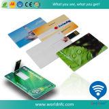 tarjeta de visita de encargo del USB del mecanismo impulsor del flash del ABS de la impresión 4G para los regalos