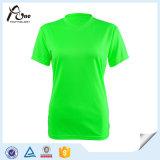 Les femmes faits sur commande en gros sèchent l'usure courante de sport de chemises d'ajustement