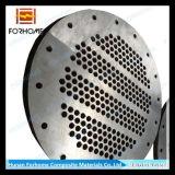 Titanio de acero al carbono conector de placa de tubos de intercambiador de calor, condensador, más frío, sistema de desalinización del agua de mar