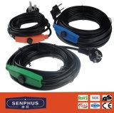 Cable térmico anticongelante de la pipa de agua