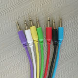 3.5m m mono cable audio colorido