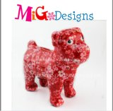 陶磁器OEM犬様式のヒョウプリントステッカーのお金のコレクションボックス