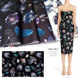 Polyester-Twill gedrucktes Herbst-Winter-Kleid-Gewebe