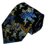 Les cravates en soie tissées de Rose de mode neuve de fleur des hommes rouges de modèle