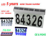 Aluminium Solar House Numbers Light