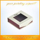 宝石類のためのWindowsが付いている優雅なボール紙のギフト用の箱
