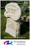 미국식 주문을 받아서 만드는을%s 가진 손에 의하여 굴을 파는 꽃 디자인 묘석