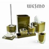 Ensemble de salle de bain Polyresin transparent (WBP0202G)