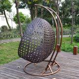 Cadeira de vime do balanço do Rattan do frame do ferro do revestimento da potência da alta qualidade