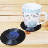 レコードのレトロのCDタイプ飲み物のコースターのシリコーンのコップのマット